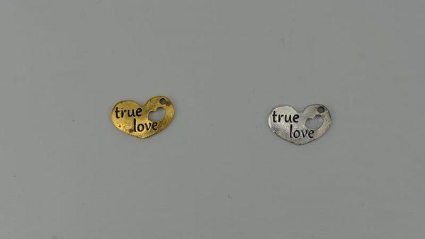 ΚΑΡΔΙΑ ΜΕΤΑΛΛΙΚΗ TRUE LOVE 2.5εκ Χ 1.6εκ